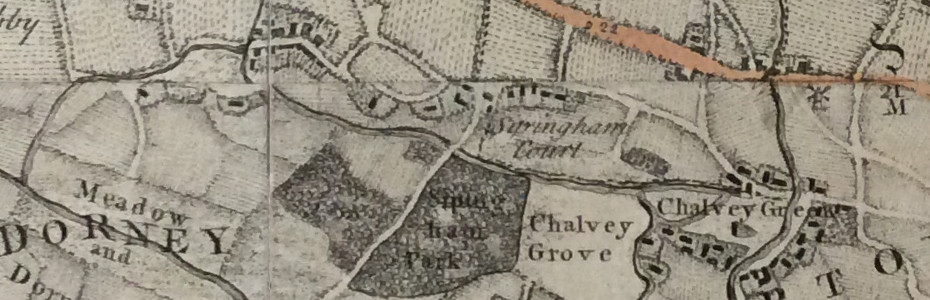 Earliest map showing Cippenham